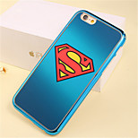 S Mark Pattern Plating TPU Phone Case for iPhone 5/5S