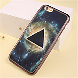 Triangle Star Pattern Plating TPU Phone Case for iPhone 5/5S