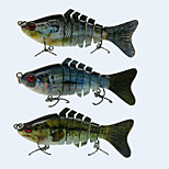 3pcs/lot 2016 New Hard Plastic Segmented Fishing Lures 4'' 10CM 15.2g Crankbait for Pike Muskie Fishing lure