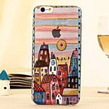 The New European-Style Building Castle Relief Environmental TPU Material Touch Phone Case for iPhone 6/ 6S