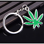Plant Keychain Green Maple Keychain Car Key Pendant Creative Small Gifts to Send Men and Ladies