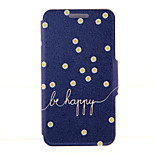 Kinston® Daisies Be Happy Pattern Full Body PU Cover with Stand for HTC One M7/M8/M9 and HTC Desire 816/826/Eye