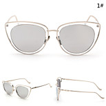 Women 's Mirrored  100% UV400 Cat-eye Sunglasses