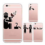 MAYCARI®Magic Indians Soft Transparent TPU Back Case for iPhone 6/iphone 6S(Assorted Colors)