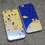 Rabbit Bear Cony and Brown Cartoon Stars Moon Reflective Blu-ray Soft TPU Case Cover for iphone 6s Plus/iphone 6 Plus