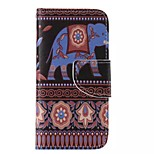 Elephant Painted PU Phone Case for iphone5C