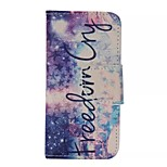 Starlight Painted PU Phone Case for iphone5C