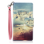 New Lanyard  Sky Birds Pattern PU Leather Material Phone Case for Huawei P8 Lite