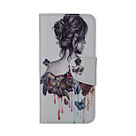 Girl Pattern Card Stand Leather Case for iPhone 6/6S