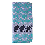 The New Elephant PU Leather Material Flip Card Cell Phone Case for iPhone 6 /6S