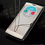 Luxury Clear View Mirror Screen Flip Leather Smart Case For LG G4 (Assorted Colors)