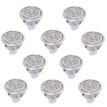 10 pcs GU5.3(MR16) 5 W 3 COB 450 LM Warm White / Cool White MR16 Decorative Spot Lights AC 85-265 , AC/DC 12 V