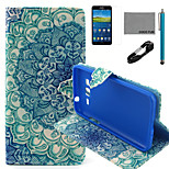 COCO FUN® Peacock Tail Pattern PU Leather Case with V8 USB Cable, Flim and Stylus for Samsung Galaxy Grand Prime G530