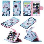 design especial caso fólio novidade couro pu desenho ou padrão colorido coldre para iPhone 5 / 5s