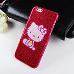 Cartoon Cat Pattern Glitter Hard Back Cover Case for iPhone6/6S