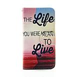 viver a vida pu carteira de couro caso de corpo inteiro para o iPod Touch 5/6