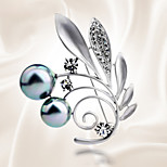 The Leaves Are All-Match Temperament Pearl Brooch