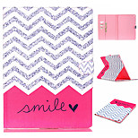 Pink Ripple Pattern Flip the Card Holder Protection Case for iPad Pro
