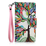 New Lanyard  Colors Tree Pattern PU Leather Material Phone Case for Huawei P8 Lite