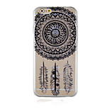 Retro Black Pattern Transparent Phone Case Back Cover Case for iPhone6/6S