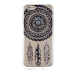 retro schwarzes Muster transparent Telefonkasten rückseitigen Abdeckung für iphone6 plus / 6s Plus