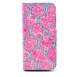 Rose Mandala Flower Pattern PU Leather Stand Case Cover with Card Slot for iPhone 5/5S
