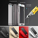 luxo ouro pc caso duro clara filme de vidro metálico volta cobertura cobertura de 360 graus para o iPhone 6 mais / 6s mais