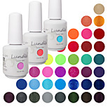 Choose 3 Pieces Lundle Soak Off UV Nail Gelpolish 141 Color Gel Base Top Coat Gel LED Manicure Gel