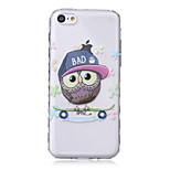 Owl Pattern Waves Slip Handle TPU Soft Phone Case for iPhone 5C