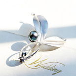 Retro Palace Leaves Pearl Brooch
