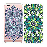 MAYCARI®Ethic Flower Pattern Soft Transparent TPU Back Case for iPhone 6/iphone 6S(Assorted Colors)