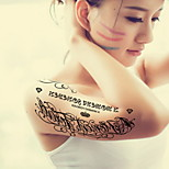 English Alphabet Waterproof Flower Arm Temporary Tattoos Stickers Non Toxic Glitter