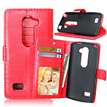 Crazy Horse Magnetic Leather Phone Stand Case Cover with Card Slot for LG Leon H320 C40
