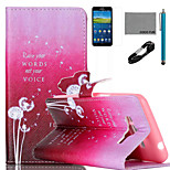 COCO FUN® Dandelion Pattern PU Leather Case with V8 USB Cable Flim and Stylus for Samsung Galaxy Grand Prime G530
