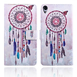 Wind Chime Pattern Card Stand Leather Case for Sony Xperia Z3/Z4/E3/E4/T3