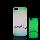 Smile Pattern Glow in the Dark Hard Plastic Back Cover for iPhone 5 for iPhone 5s Case
