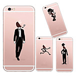 maycari®handsome menino e menina bonita TPU volta caso transparente macio para iphone 6 mais / 6s mais (cores sortidas)