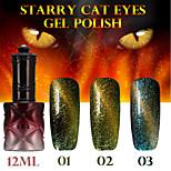 1PCS ANA Starry Cat Eyes Color Gel 12ml 12Colors Long Lasting Nail Polish 1-3