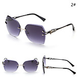 Sunglasses Women's Modern / Fashion Browline Black / Silver / Gold Sunglasses Full-Rim