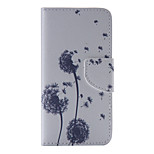 The New Dandelion PU Leather Material Flip Card Cell Phone Case for iPhone 6 /6S