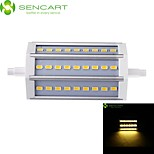 R7S 118mm 27x 5730SMD 9W Warm White / Cool White 900LM 220°Beam Horizontal Plug Lights Dimmable Flood Light AC85-265V