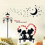 European Romantic Love Lights Couple Wall Stickers