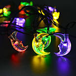 King Ro solar 21.32ft 30LED Moon Shape Christmas Parties Decoration Light Outdoor Waterproof String Lights