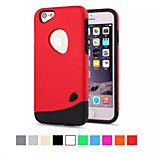Cobble Anti-knock PC Silicone 2 in 1 Material Phone Case for iPhone 6S/6