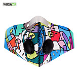 WOSAWE Anti-pollution Cycling Mask w/Activated Filter City  Mouth-Muffle Dustproof Half Face Carbon Bike Training Mask