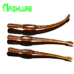 Afishlure Artificial Baits Brown Earthworm Soft lure 1.1g/1/18oz./1/10 oz 80mm/2-5/8