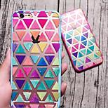 frische Farbdreieck rosa harten und weichen Fall für iphone6 plus / iphone 6s Plus