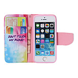 2016 Newest Flip Cover Colored Drawing Support  Wallet Case Lie Fallow Mobile Phone Shell for iphone5/5S Assorted Colors