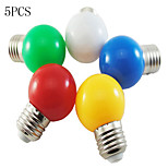 5PCS MORSEN® LED Light Bulb Color E27  1W Small Light Bulb Outdoor Decorative Colorful Lighting Christmas Lights