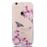 Transparent Butterfly TPU+Acrylic Anti-Scratch Backplane Combo Phone Case for iPhone 6/6S